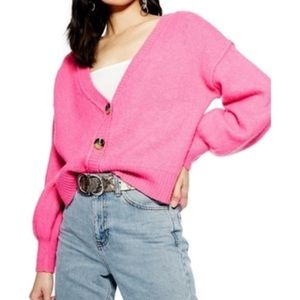 Top shop Pink sweater cardigan! Size 6!